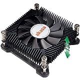 Akasa KS7 CPU-Kühler, 16 mm flaches Profil, PWM automatische Geschwindigkeitsregelung, 35 W TDP, AK-CC6309EP01, kompatibel mit Intel LGA 1200 / Intel LGA115X
