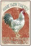 Original Vintage Design Preis Gewinner S Hens Hähne Zinn Metall Zeichen Wandkunst , Dickes Weißblech drucken Poster Wanddekoration für Fram,30x40cm