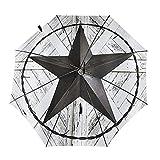 Donono Automatischer dreifach faltbarer Regenschirm mit 3D-Western-Textas-Stern auf weißem rustikalen Brett, tragbarer UV-Schutz, Regenschirme innen bedruckt für den täglichen Gebrauch