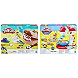 Play-Doh B5520EU50 B5520EU4 - Dr. Wackelzahn Knete, für fantasievolles und kreatives Spielen & E0102EU4 - Küchenmaschine Knete, für fantasievolles und kreatives Spielen