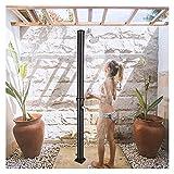 MGCD Solardusche 38L Solarbeheizte Dusche, Außenduschsäule Mit Duschkopf Und Fußdusche, Pooldusche Im Innenhof Zum Reinigen Vor Und Nach Dem Schwimmen