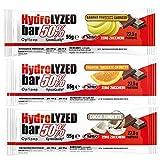 Hydrolyzed Bar 50 % [55 g] – Proteinriegel ohne Zucker (Weiß, Crunchy, Box mit 24 Stangen)