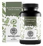 NATURE LOVE® Glucomannan aus der Konjak Wurzel - 120 Kapseln. 4000mg je Tagesdosis - Hochdosiert, vegan, in Deutschland produziert