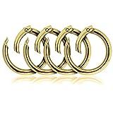 Karabiner-Ring, 4er Set, Verbinder-Ring für Schulter-Gurt, nichtrostend, Ideal für Handtaschen (Gold)