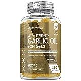 Premium Knoblauch Kapseln - 100.000 mg (500 :1 Extrakt) mit Allicin - Natürliches & Geprüftes Knoblauchextrakt & Ohne Zusatzstoffe - 180 Kapseln für 6 Monate - WeightWorld