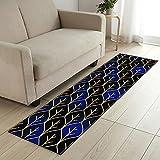 COMENO Korridor Teppich Läufer Küchenteppich, Wird Nicht verblassen,Waschbare rutschfest Teppichläufer Meterware, für Wohnzimmer Flur Büro Küche- 120x280