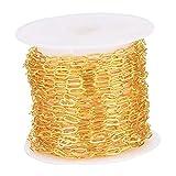 non-brand 16ft Vergoldete Kabelkette Schmuckherstellung für Halsketten