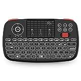 Rii Mini i4 Wireless + Bluetooth (italienisches Layout) – Mini-Tastatur mit Hintergrundbeleuchtung mit Touchpad kompatibel mit Smart TV, TV Box, Tablet, Smartphone, Konsole, PC, Fire TV, Raspberry