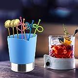 Mehrzweck-Essstäbchenhalter, platzsparend, Edelstahl, Löffelbox für Zuhause für Gabeln (blau)