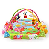 JIAGU Babyspieldecke Neonatale Krabbelmatte Fitnessrahmen Baby liefert Musik-Pädagogisches Spielzeug Musikwürfel (Color : Green, Size : 120x120x60cm)