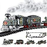 XLNB Fernbedienung Kinderspielzeug-Zug, Mini Eisenbahn Elektrisch Kinderspielzeug, Dampflokomotive, Soundsimulation, Spielzeugeisenbahn-Set, Spielzeugauto Für Kleinkinder,Schwarz