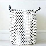 KKGASSAB Große Punkte Fünftiger Sterntuch Wäsche Wäsche Wäsche Kleidung Aufbewahrungskörbe Home Kleidung Barrel Taschen Kinder Spielzeug Lagerung Organizer (Color : B)