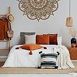 Mandala Wandaufkleber wasserdicht Wandtattoo Yoga Studio Dekoration Schlafzimmer Kopfteil abnehmbare Mandala Aufkleber A4 115x57