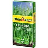 Floragard Rasenerde 40 L • hochwertige Spezialerde • zur Neuanlage, Pflege und Ausbesserung von Rasenflächen • mit dem Naturdünger Guano • mit Q