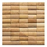 Wandverkleidung Holz - BM-003 - Mosaikfliesen Wandverblender Paneele Holz Wand Bamboo Mosaic Design Wood Wall Panel - Fliesen Lager Verkauf Stein-mosaik Herne NRW