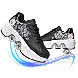 Unisex-Kinder Skateboard Schuhe Kinderschuhe Mit Rollen Skate Shoes Rollen Schuhe Sportschuhe Laufschuhe Sneakers Mit Rollen Beste Halloween Weihnachten