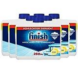 Finish Maschinentiefenreiniger Citrus – Flüssiger Maschinenreiniger gegen Kalk und Fett für eine saubere Spülmaschine – 6er Pack (6 x 250ml)
