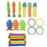Hahepo Tauchen Spielzeug 18 Stück Sommer Pool Schwimmen Spielzeug Unterhaltung Sets Sommer Spaß für Kinder Pool zubehör spaß