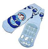 Weri Spezials Baby und Kinder voll ABS Socke Baumwolle Stopprsohle Antirutsch voll Frottee (23-26, Hellblau)