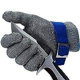CPTDCL Level 9 Schnittfester Handschuh aus Edelstahl mit Metalldraht, langlebig, rostfrei, Metzger-Handschuh für die Küche (XL)
