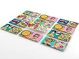 Tink Selbstklebende Fliesenaufkleber mit Bilder | Klebefliesen für Küche und Bad, für Böden, Treppen und Holzoberflächen | Optimale Folienstärke von 0,5 mm (ModeArt, 10x20 cm // 12 Stück)