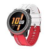 Yumanluo Fitness Armband,Zweifarbige wasserdichte bewegliche Uhr, intelligentes Armband zur Gesundheitsüberwachung - Weiß Rot,Gesundheits- & Fitness-Tracker