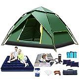YCRD Wurfzelt 2-4 Personen Pop Up Zelt Camping Zelt 4 Jahreszeiten Kuppelzelt Leichtes Großes Familienzelt Sekundenzelt Wasserdicht Sonnenschutz Strandzelt Für Outdoor Camping Festival