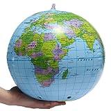 SHATCHI Aufblasbare Weltkugel Erdkarte Geographie Lehrer Hilfe Ball Spielzeug Geschenk 40cm