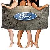 Large Puzzle Ford Yoga-Handtuch, Matten-Handtuch mit intelligenten Ecktaschen und elastischer Schlaufe, rutschfestes Hot-Yoga-Handtuch für Bikrams, Pilates, Fitness