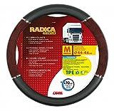 Lampa LkW-Lenkradschoner Radica Premium schwarz-wurzelholz 44/46 cm