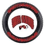 winnerurby Speed Hunters Reifenaufkleber - DIY Permanent Rubber Tire Lettering Kit Auto Reifen Brief Aufkleber