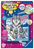 Ravensburger Malen nach Zahlen 27784 - Süße Wolfsfamilie – Für Kinder ab 9 Jahren