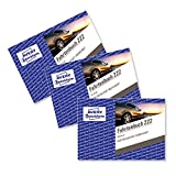 AVERY Zweckform 222-3 Fahrtenbuch für PKW (A6 quer, 40 Blatt) 3er Pack, weiß