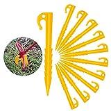 ZOCIPRO 30Stück Kunststoff Zeltheringe, Einschraubbare Erdhaken für Zelt, Stark und Langlebig Camping Zelt, Camping Werkzeug Geeignet für Windschutz Camping, Pavillon, Vorzelt
