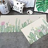 HLXX 3D-Druckteppich, Tier- und Pflanzenmuster, Küche Schlafzimmer Nachtteppich, Langer Rutschfester waschbarer Fußmattenteppich A6 50x80cm