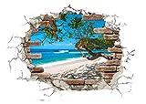 Komar Hochwertiger Deco-Sticker Break Out, Größe 50 x 70 cm (Breite x Höhe), 1 Teil, rückstandsfrei abzulösen und wiederaufklebbar, Made in Germany, Bunt, 17054H