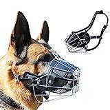 Supet Metall Maulkorb Hunde Maulkörbe Ledermaulkorb für Groß Hunde Beißen und Sicherheitsgefühl für Meistens Hunde