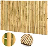 JinSui Bambus Sichtschutz Balkon Dekorative Zäune Schatten Draht Umreifung Bambus Zaun Balkon Sichtschutz Naturgarten Bambus Pole Gartensichtschutz