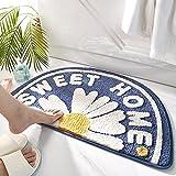 HEIMIU Badematte rutschfeste Duschvorleger Wasseraufnahme Badvorleger Blütenform Badteppich Schnell Trocknend Badematte Langlebig Teppich 45 * 75cm B