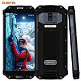 Outdoor Handy Ohne Vertrag,OUKITEL WP2 wasserdichte Smartphone 6.0 Zoll 4G Dual SIM IP68 Rugged Smartphone Stoßfest Staubdicht,10000mAh Akku Android 8.0 64GB ROM 3 Kameras Smartphones,Schw