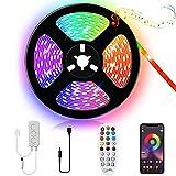 Kallrra LED TV Hintergrundbeleuchtung 3M, LED Beleuchtung RGB LED Strip App Steuerung mit Fernbedienung, LED Streifen USB für 43-60 Zoll Fernseher, PC, Schlafzimmer, Schrank, Wohnwand, Playstation