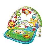 Fisher-Price GXC36 - Rainforest-Freunde 3-in-1 Spieldecke, tragbare Baby Krabbeldecke inkl. abnehmbaren Spielzeugen, ab Geburt, Abweichungen in Verpackung vorbehalten