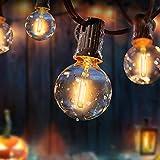 LED Lichterkette Außen, FYLINA 10m Lichterkette Glühbirnen mit 28er Birnen, G40 IP44 Wasserdichte Retro Beleuchtung für Weihnachten Hochzeit Party Aussen Dekoration - Warmweiß