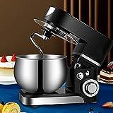 Küchenmaschine Knetmaschine (1000 W) eduzierte Geräusche Knetmaschine und multifunktional inkl. 5 L Edelstahlschüssel, 3-Rührwerkzeuge, Spritzschutz, Teigschaber