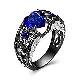 Fashion Big Blue-Stein-Ring-Charme-Schmucksache-Frauen CZ Trauringe Versprechen Verlobungsring Damen-Accessoires Geschenke Z4K146 (Main Stone Color : Ring T288, Ring Size : 9)