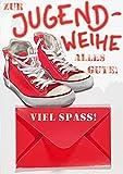 Geldkarte zur Jugendweihe Lifestyle - rote Schuhe - 11,6 x 16,6 cm