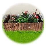 JIANFEI-weilan Gartenzaun Steckzaun, Miniatur Zuhause Garten Natürlicher Rasen Landschaft Randkante Ornament Zaun (Karbonisiert), Dicke 1,2 cm, 2 Stile (Color : B, Size : 100X50CM)