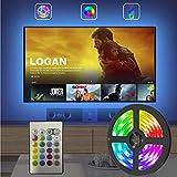 LED TV Hintergrundbeleuchtung 2.5M USB LED Strip RGB LED Fernseher Beleuchtung mit 24-Key Fernbedienung, Hintergrundbeleuchtung Fernseher für 40-65 Zoll HDTV, TV-Bildschirm, PC, Spiegel Usw.
