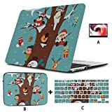 MacBook Cover 13 Zoll süßes Tier und Weihnachtsmann 2018 MacBook Air Case Hartschale Mac Air 11'/ 13' Pro 13'/ 15' / 16'mit Notebook-Hülle für MacBook 2008-2020 Version