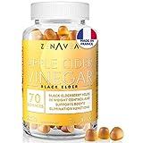 Apfelessig Gummibärchen - Gewichtsabnahme & Nahrungsergänzungsmittel gegen Müdigkeit - 70 Gummis für 1 Monat - Köstlich - Vegan - In Frankreich hergestellt - Vitamin B9, Vitamin B12, Chrom & Holunder
